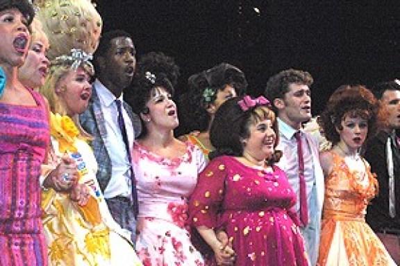 Hairspray 9/11/02 - Group shot singing