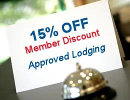 Discounted hotel rates