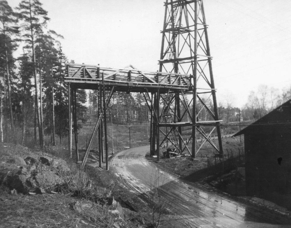 Linbanan revs i oktober 1949