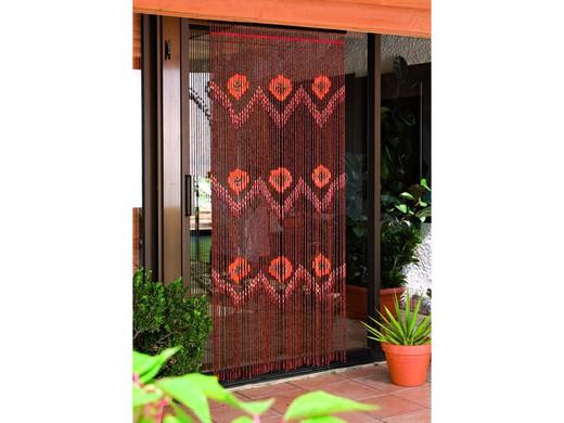 rideau de porte en perles de bois de premiere qualite catral taiping hauteur 2 m x largeur 90 cm