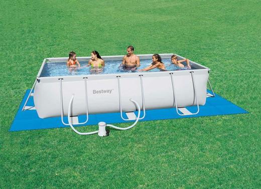 tapis de sol epais piscine hors sol 58220 bestway 50 x 50 cm 8 pieces pour surface 2 m