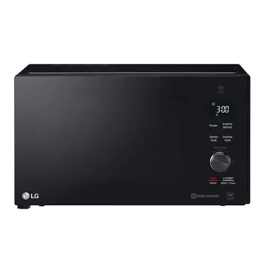 lg neochef microwave oven with grill 42 liter black mh8265dis