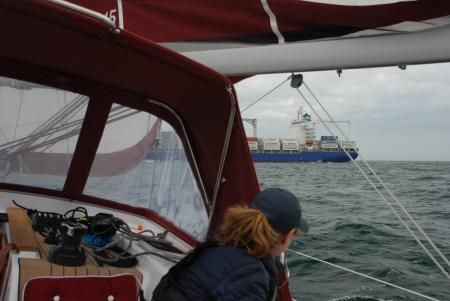 Närkontakt på väg till Helgoland