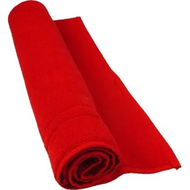 achat tapis salle de bain rouge pas