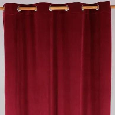 achat rideau rouge pas cher retrait
