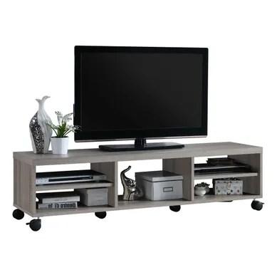 meuble tv avec roulettes pas cher