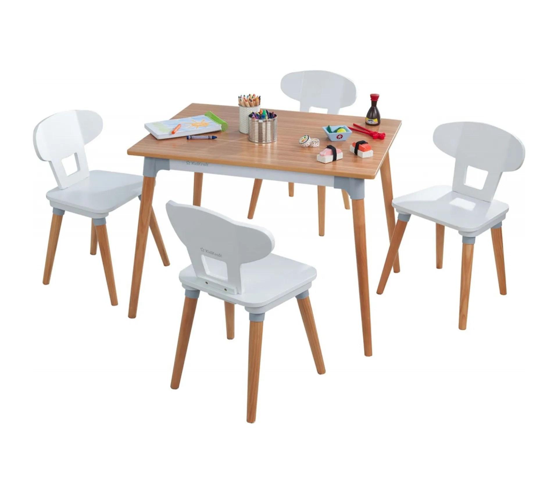 ensemble table et 4 chaises retro pour enfants et tout petits