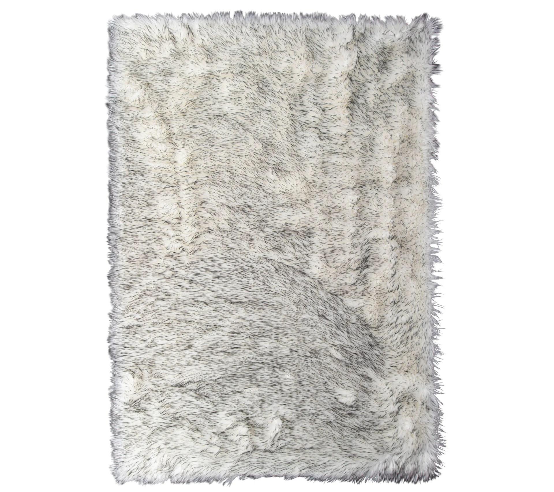 tapis fausse fourrure 120x170 sledy gris