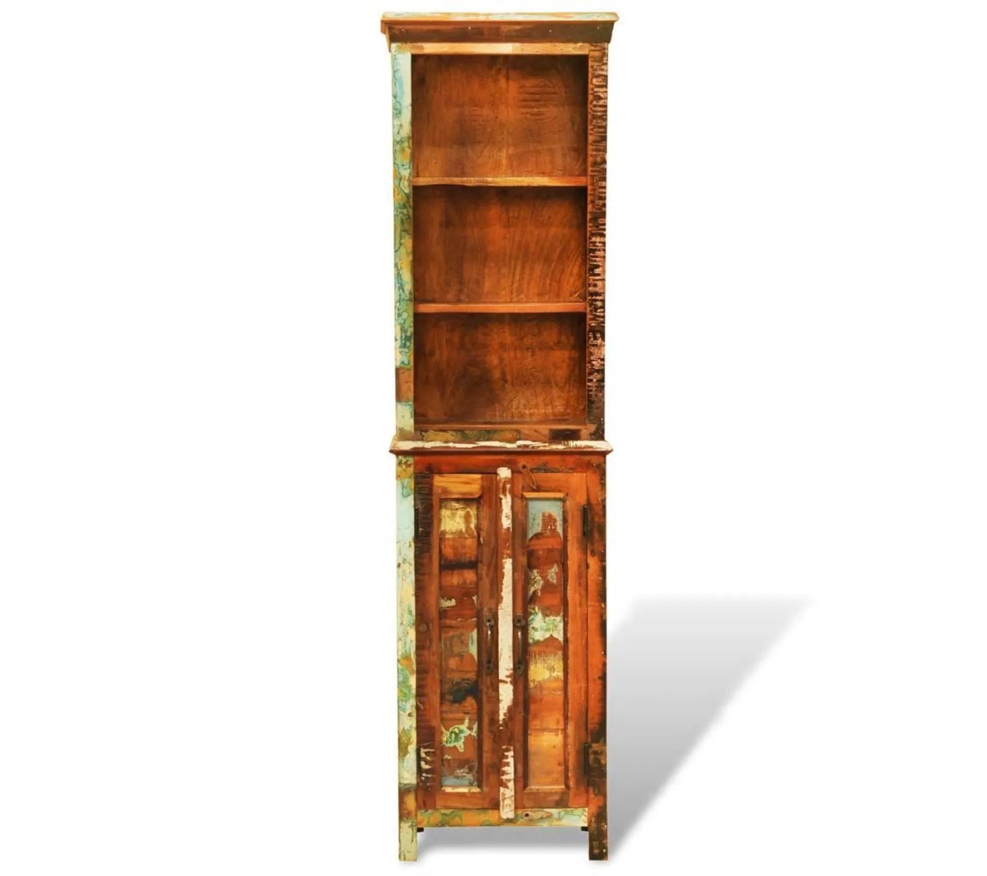 etagere armoire meuble design bibliotheque en bois recycle style vintage 2702009 2