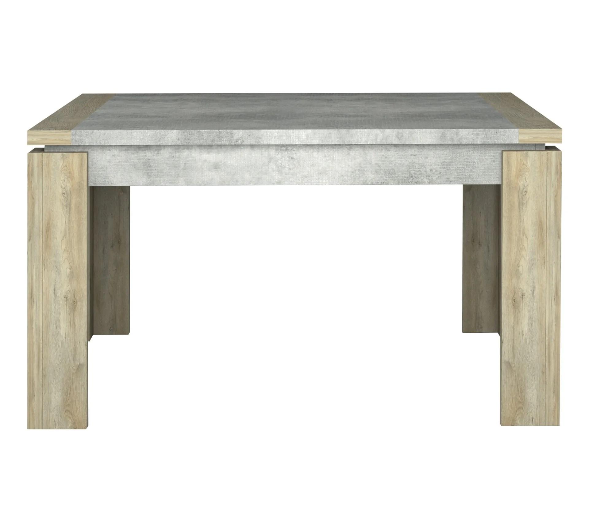 table carree l 135 norton imitation bois et beton