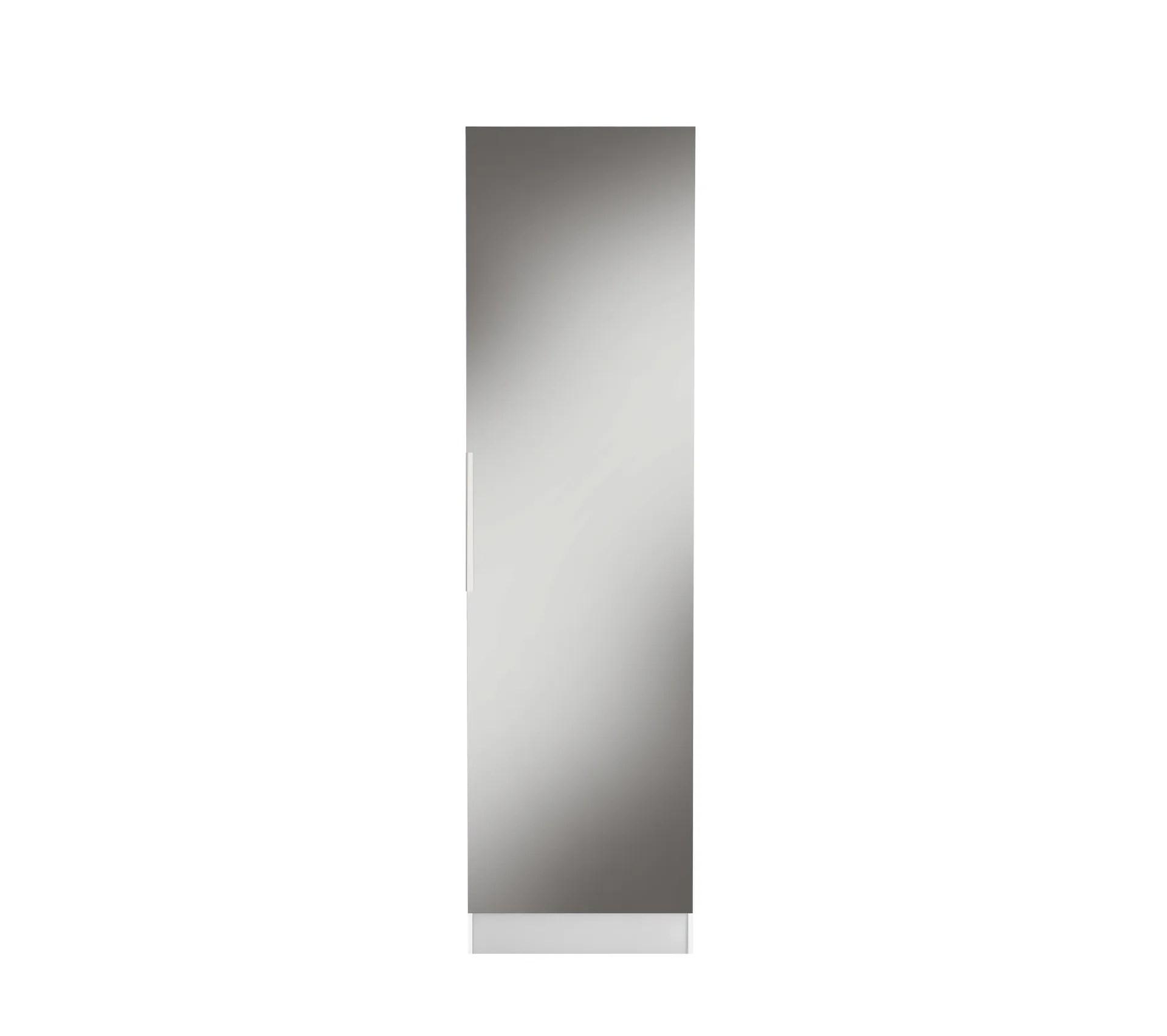 meuble a chaussures miroir zapa blanc