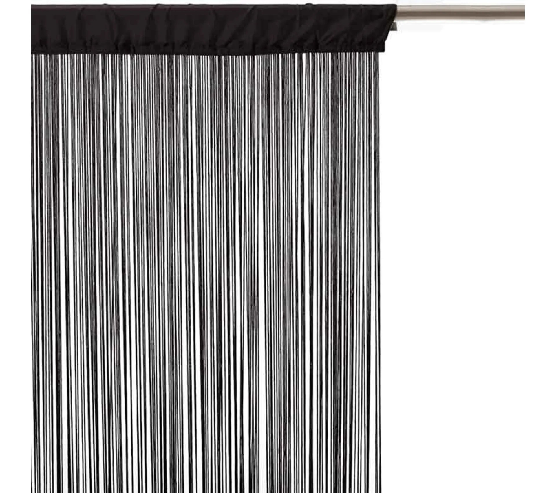 rideau fil 90x200 cm noir