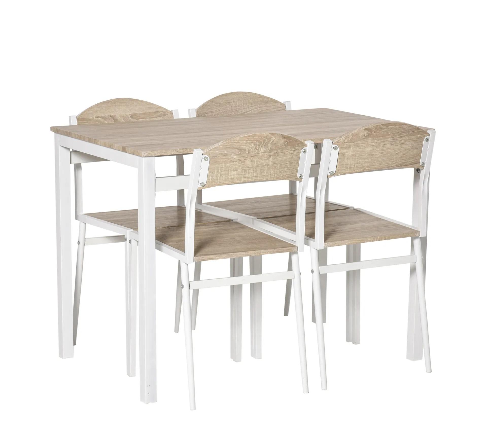 table de salle a manger 4 chaises style contemporain