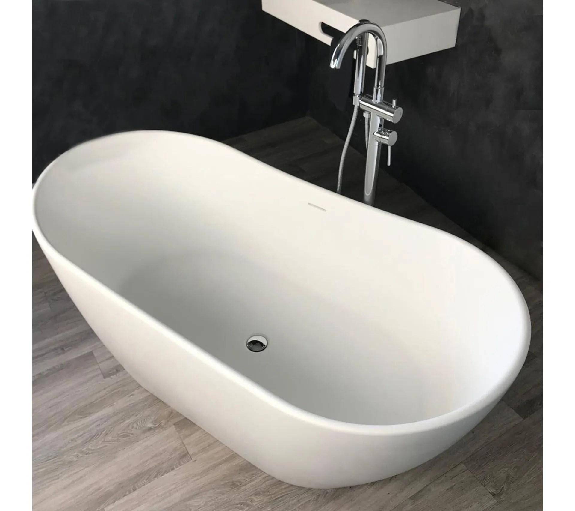 baignoire ilot 160 cm en solid surface enola