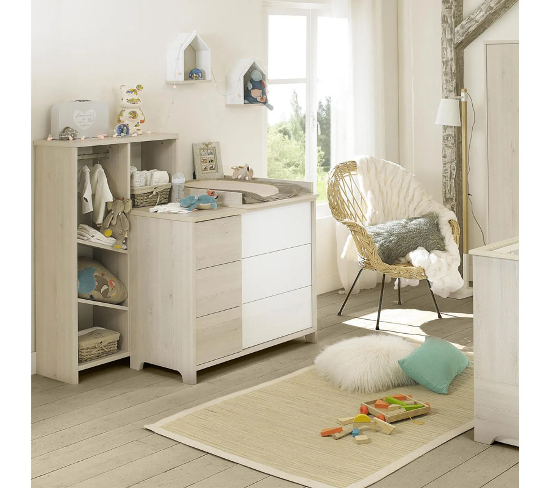 commode a langer 3 tiroirs blanc pin blanchi sweet