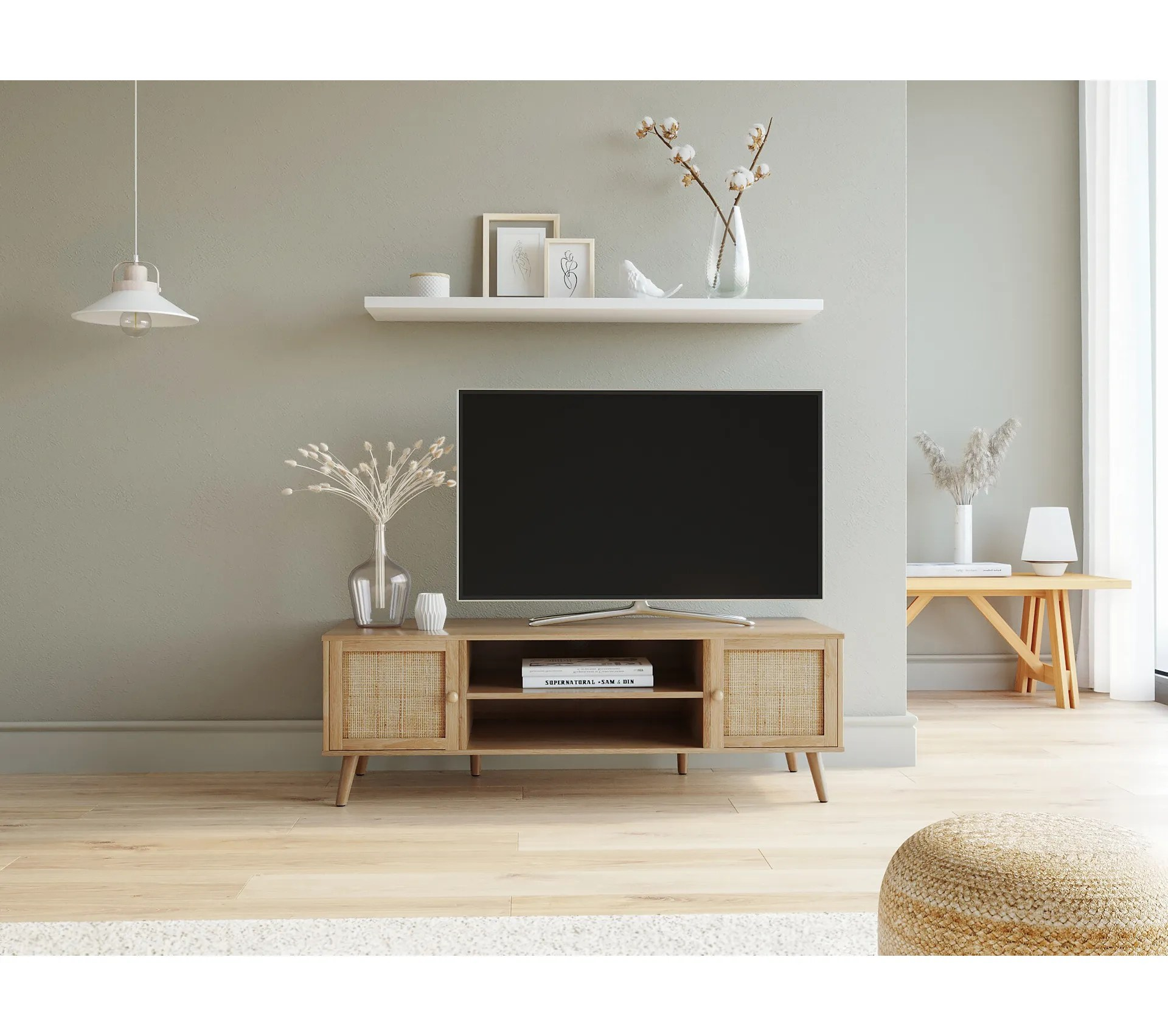 meuble tv bea naturel