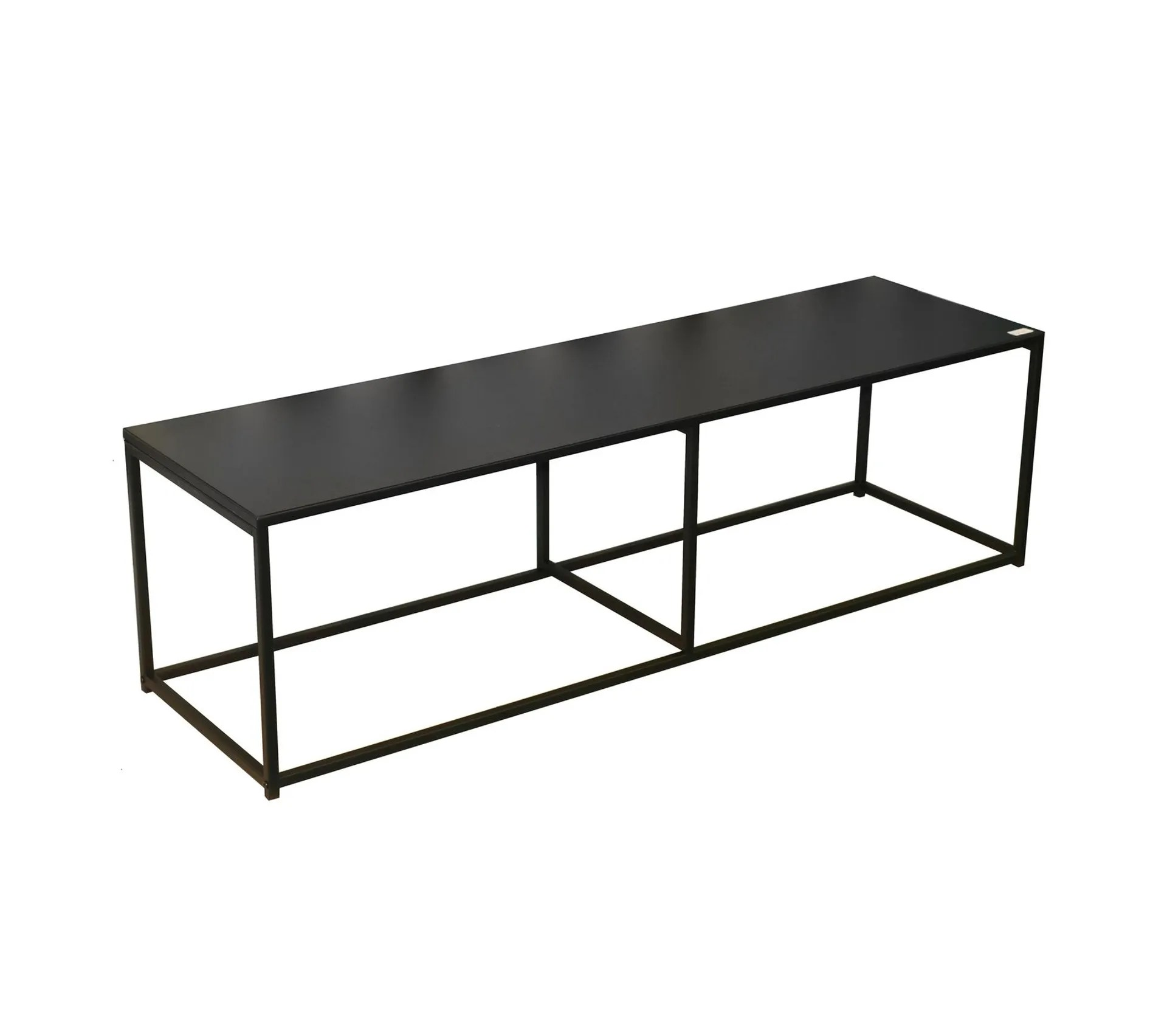 meuble tv design en metal madison l 140 x h 40 cm noir