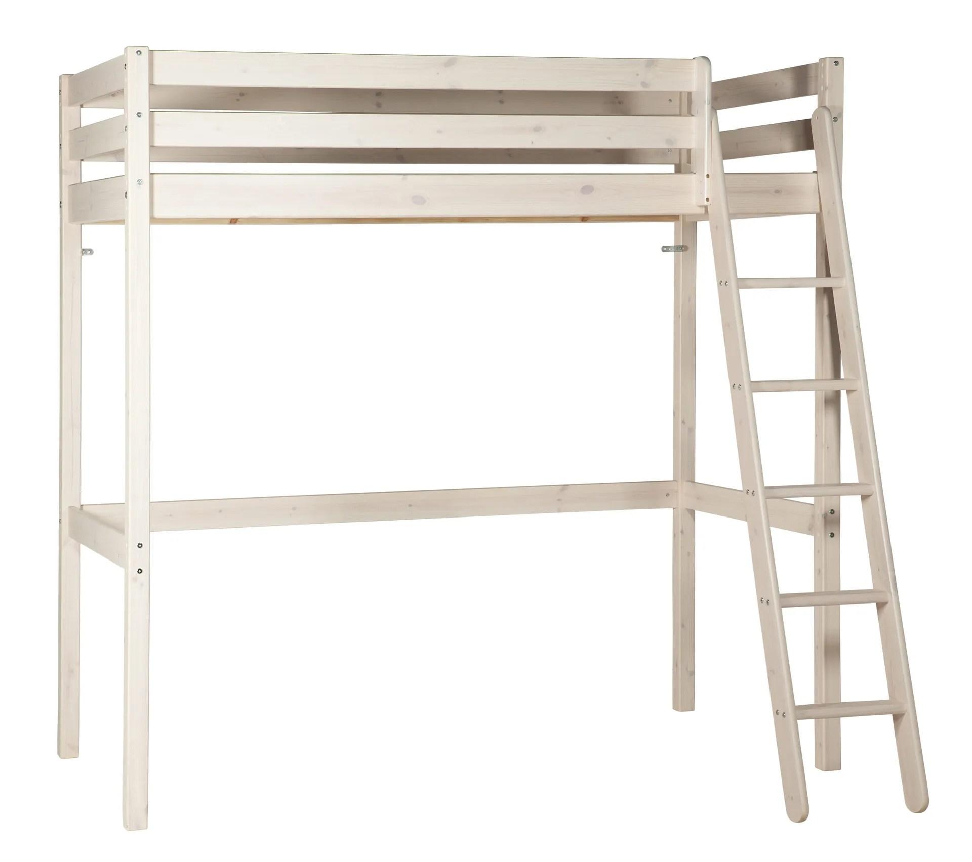 lit mezzanine 90x190 cm happy 2 blanc