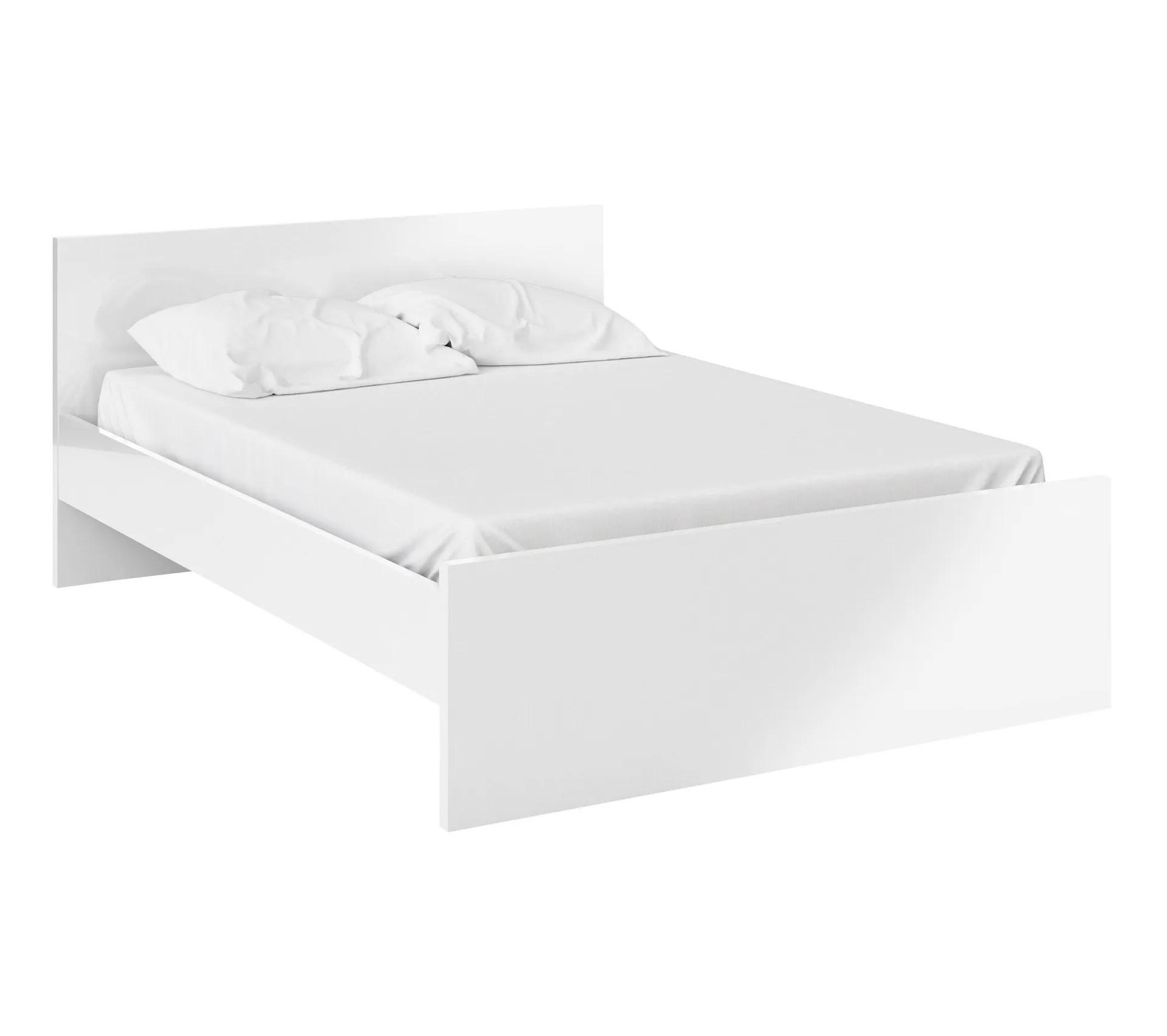 lit 140x190 cm best lak 2 blanc laque