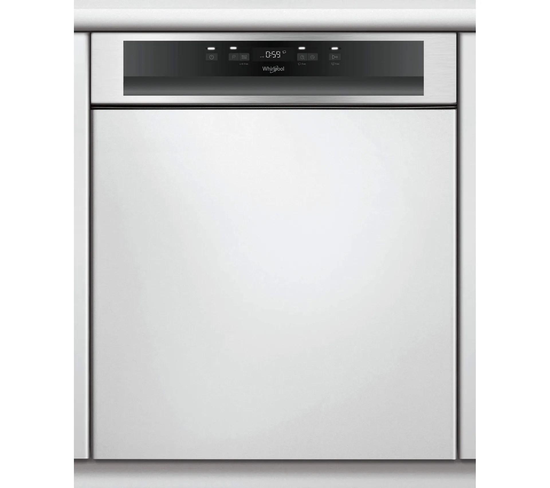 lave vaisselle 60 cm 14c 46db a integrable avec bandeau inox wbc3c26x