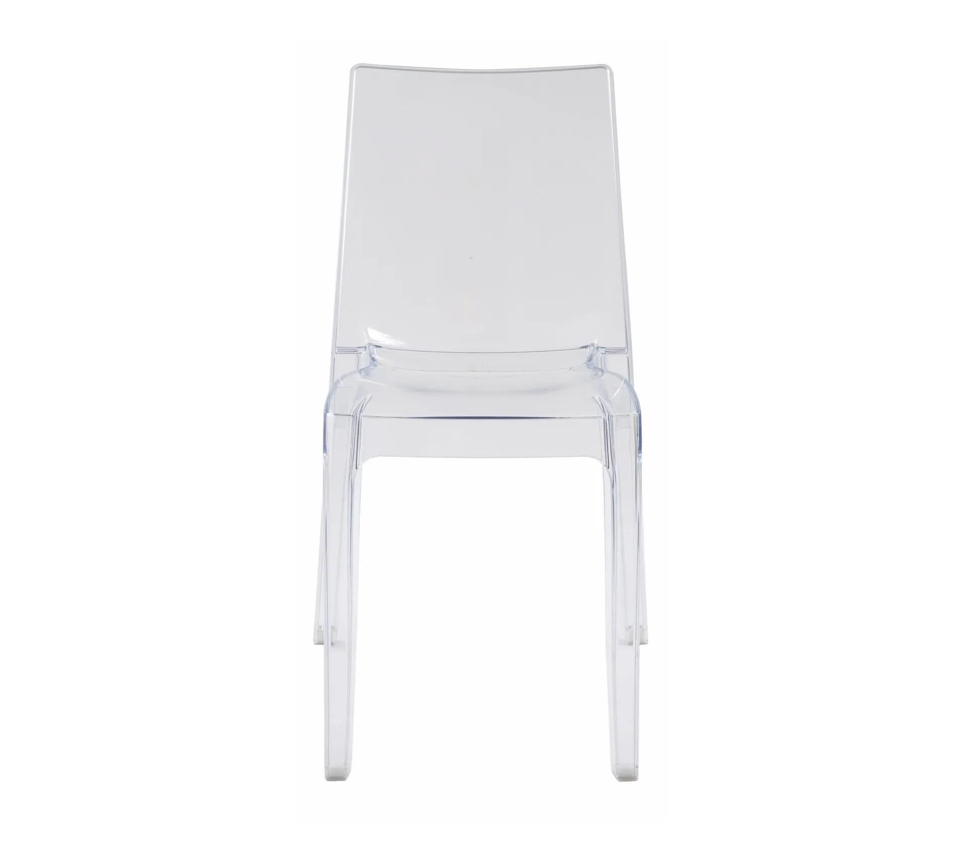 chaise cristal transparent