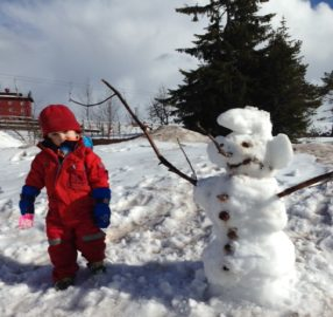 Snögubben och Albin