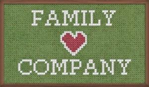 Familj hjärta företag