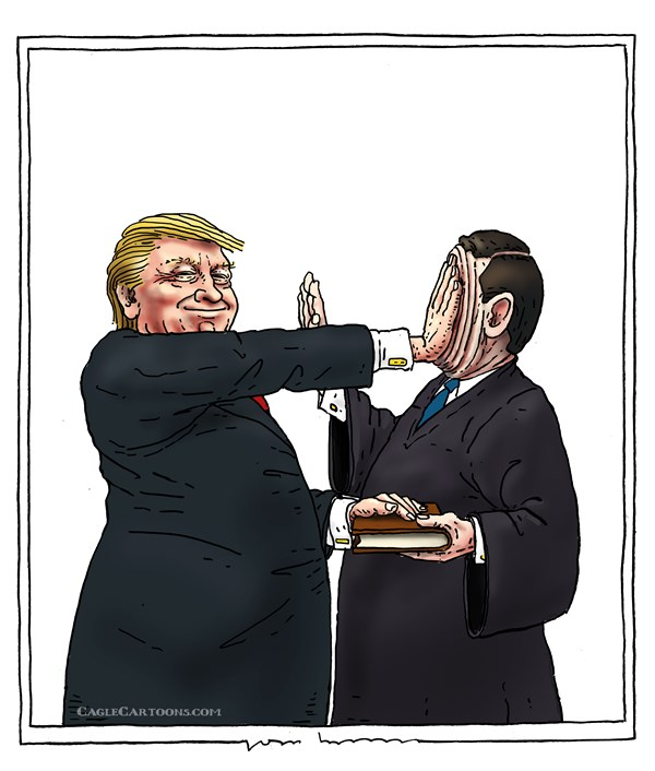 Joep Bertrams - The Netherlands - oath of office - English - oath of office, president, US, constitution, chief justice , blind, raise hand