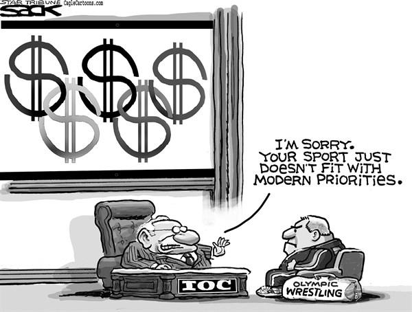 127660 600 Olympic Wresting cartoons