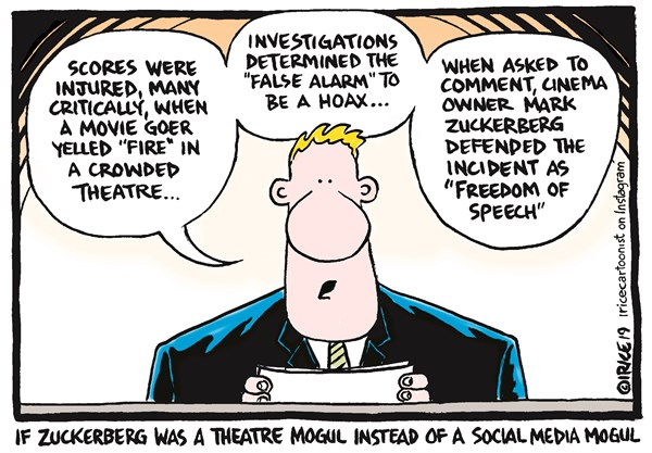 Editorial Cartoon: Mark Zuckerberg Explains Himself