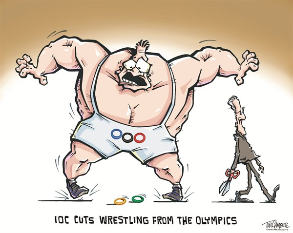 127570 600 Wrestling Cut cartoons
