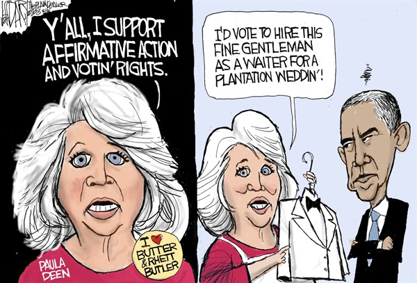 133735 600 Paula Deen affirmative action cartoons