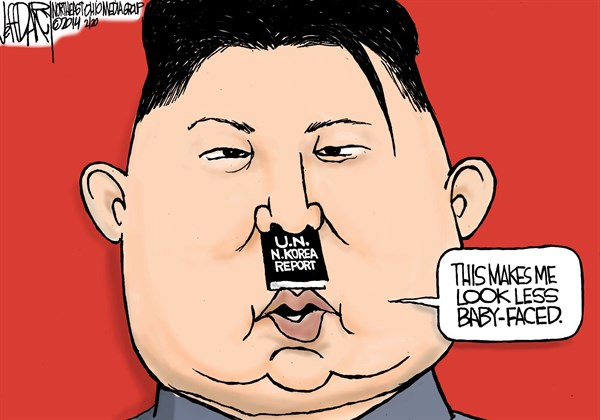 144652 600 UN North Korea report cartoons
