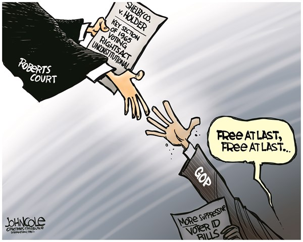 133806 600 VRA ruling and Voter ID cartoons