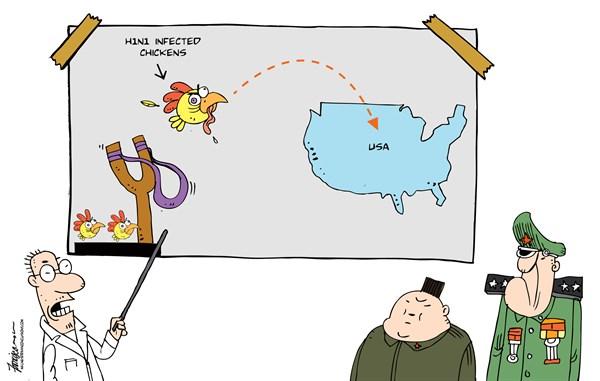 130160 600 NKs radical attempt on biological warfare cartoons