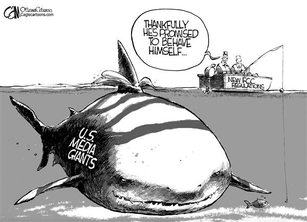 Image result for political cartoons about media