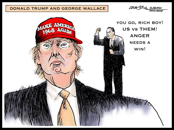 J.D. Crowe - Mobile Register - Trump and George Wallace - English -