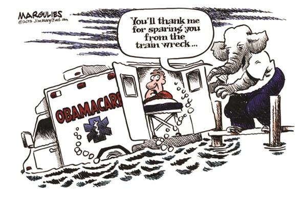 Image result for democratic cartoons about republicans on obamacare