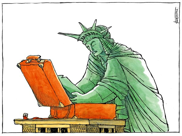 Michael Kountouris - Greece - Election 2016The day after - English - Election 2016,statue of Liberty,Donald Trump,