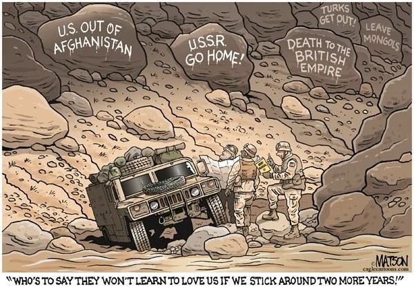 149096 600 US Troops Extend Stay in Afghanistan cartoons
