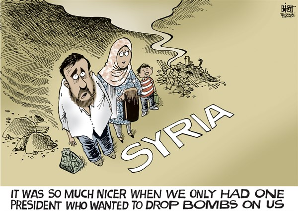 137061 600 BOMBING SYRIA cartoons
