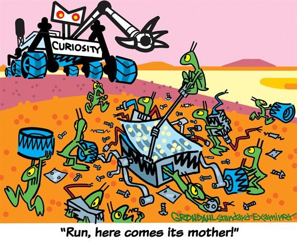 Curiosity © Cal Grondahl,Utah Standard Examiner,mars,curiosity,rover,mother,alien,planet,red,research,curiosity-mars