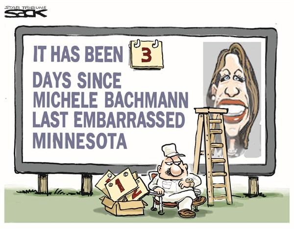 Michelle Bachmann © Steve Sack,The Minneapolis Star Tribune,michelle bachmann,embarrassed,minnesota,166,181,