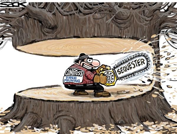 126883 600 Sequester Budget Trim cartoons
