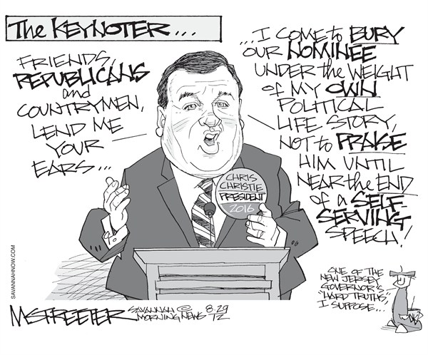 Duly Noted © Mark Streeter,The Savannah Morning News,chris christie,speech,convention,republican,florida,gop,christie-speech,republican-convention-2012