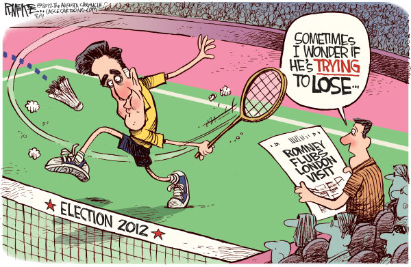 Romney Badminton © Rick McKee,The Augusta Chronicle,Mitt, Romney, 2012 London, Olympics, badminton