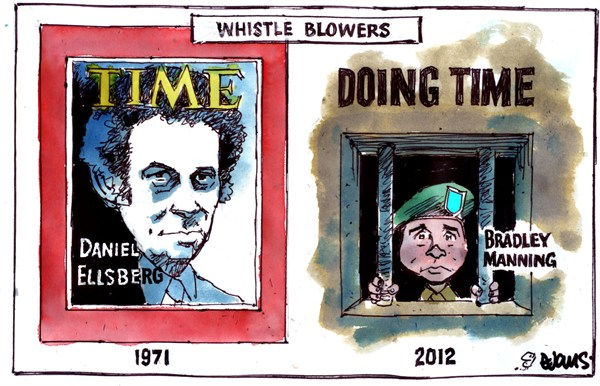 Whistle Blowers © Malcolm Evans,New Zealand,whistle,blowers,bradley manning,time,jail
