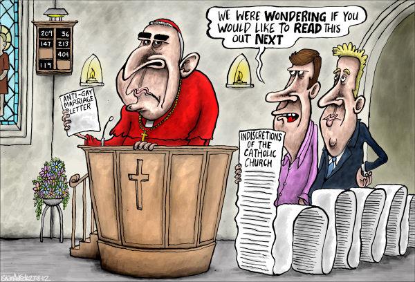 Catholic Indiscretions © Brian Adcock,The Scotland,catholic indiscretions, indiscretions, catholic, hipocrisy, keith obrien, scotland, catholic church, gay marriage, anti-gay marriage,