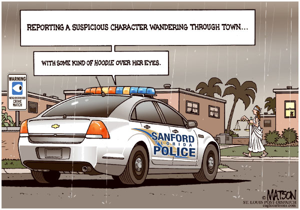 Perry, Perry on the wall? Should he West not be worried miore about itself?  |  Justice Is Suspicious Character in Sanford Florida; By RJ Matson, The St. Louis Post Dispatch - 4/17/2012 12:00:00 AM