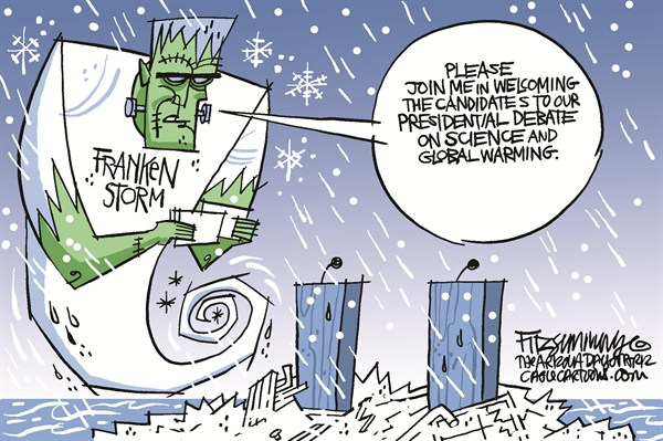 Frankenstorm © David Fitzsimmons,The Arizona Star,frankenstorm, weather, climate change, global warming, environment